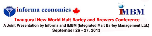 New World Malt Barley and Brewers Conference Canada 2013